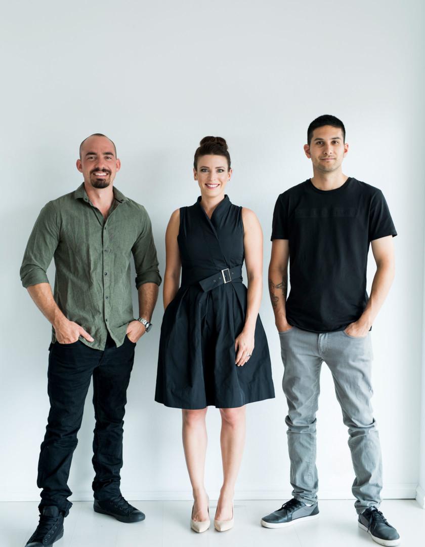 Limitless team: Sam Ruocco, Katherine Barnes & Andrew Lionetti
